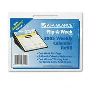 "At-A-Glance SW70650 Flip-A-Week with QuickNotes Weekly Desk Calendar Refill 5.62""W x 7H (AZRAAGSW70650)"
