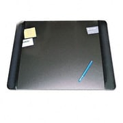 """Artistic  Executive Desk Pad with Leather-Like Side Panels  24"""" x 19""""  Black (AZRAOP413841)"""