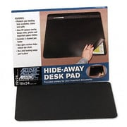 Artistic  Hide-Away PVC Desk Pad  24 x 19  Black (AZRAOP48041S)