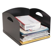 Steelmaster  Big Stacker Inbox Desk Tray, Single Tier - Black (AZTY15113)