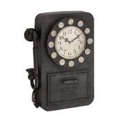 Benzara  Antique Styled Eye-Catching Metal Wall Clock (BNZ10126)