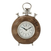 Benzara  Wood Metal Table Clock - 7 in. W (BNZ13497)