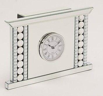 Benzara Fire Place Shaped Glass and Metal Clock (BNZ14238) 2394761