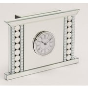 Benzara  Fire Place Shaped Glass and Metal Clock (BNZ14238)
