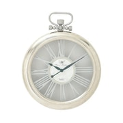 Benzara  Round Aluminum Glass Wall Clock - 16 in. W (BNZ14468)