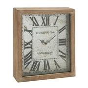 Benzara  Rectangular Wood Wall Clock (BNZ6900)