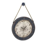 Benzara  Metal Wood Wall Clock (BNZ7381)