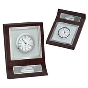Chass 78432 Glass and Metal Desk Clock (CHAS037)
