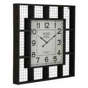 Cooper Classics  Brianne Metal Wall Decor Clock With Wire Backing And Small Shelves (COOP893)