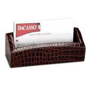 Dacasso  Crocodile Embossed Leather Business Card Holder (DCSS056)