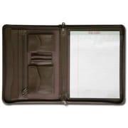 Dacasso  Leather Enhanced Zip-Around Portfolio - Chocolate Brown (DCSS506)