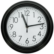 DDI  9.8 in. Round Wall Clock with Black Rim Case Of 4 (DLRDY271388)