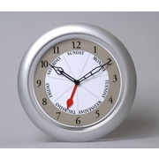 Dayclocks  Contemporary Silver Analog WallClock (DYCK004)