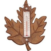 Songbird Essentials Stained Maple Leaf Small Window Thermometer (GC16847)