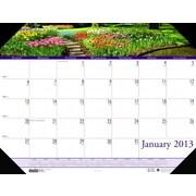 House of Doolittle HOD1746 Compact Gardens Desk Pad  (HSODL042)