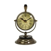 Home Decor Improvements  Soren Brass Table Clock (IMAX1214)