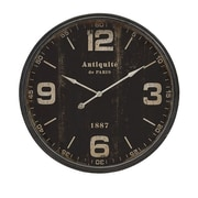Imax  Robertson Black Wall Clock (IMAX7539)