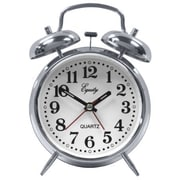 Equity By La Crosse  Silver Twin Bell Battery Operated Alarm Clock (JNSN70946)