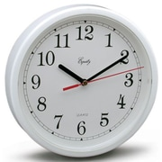 Equity By La Crosse 8.5in. White Frame Round Quartz Wall Clock  (JNSN9435)