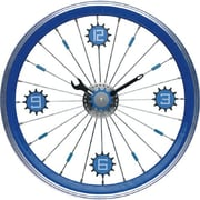Maples  Bike Wall Clock - With Blue Aluminum Rim (MPLS031)