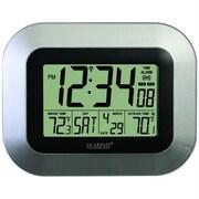 La Crosse Technology  Atomic Digital Wall Clock With Indoor & Outdoor Temperature (PELCRWS8115US)