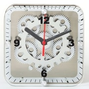 Maples Clock  6 in. Square Dual Use - Table-Wall - Moving Gear Clock - Glass Cover (RTL28CR081)