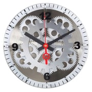 Maples Clock  10 in. Moving Gear Wall Clock - Glass Cover (RTL28CR082)