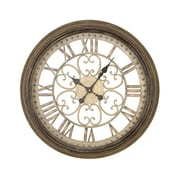 EcWorld Enterprises  Victorian Inspired Hampton Metal Wall Art Clock (RTL355435)