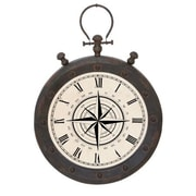 EcWorld Enterprises  Urban Designs Weathered Metal Pocket Watch Design Wall Hanging Clock (RTL355658)