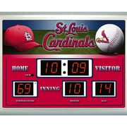 Evergreen Enterprises  St. Louis Cardinals Scoreboard Wall Clock (RTL385798)