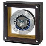 Seiko  World Time Mantel Clock - Dark Ebony Veneer - Quiet Sweep Second Hand (RWRDAMSE194)