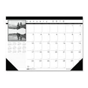 House of Doolittle HOD1226 Monthly Desk Pad- 13 Mon. Dec-Dec- 18.50in.x13in.- Black-White (SPRCH13803)