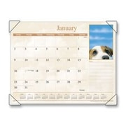 At-A-Glance AAGDMD16632 Monthly Desk Calendar- 12-Month Puppy Images- 22in.X17in. (SPRCH16581)