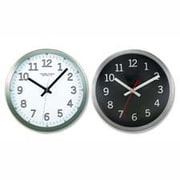 Artistic Products LLC  Wall Clock- 9in. Round- Arabic Numerals- Silver-Black (SPRCH17734)