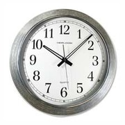 Artistic Products LLC  Wall Clock- Galvanized Metal- 16in.- Silver (SPRCH23791)