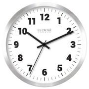La Crosse Technology Ltd 404-2626 10 in. Silver Metal Wall Clock (TRVAL83943)
