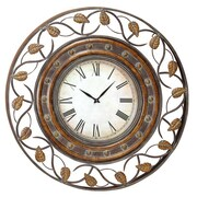 Benzara  36 In. French Quarter Metal Art Decor Wall Clock (WLMGC0595)