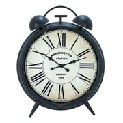 A nation   Corrosion Resistive Round Metal Clock with Antiqued Finish (WLMGC6033)