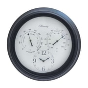 Woodland Import  Outdoor Clock Detailed with Bold Numerals in Black Font (WLMGC6320)
