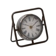 Woodland Import  Beautiful Metal Clock with Dark Frame (WLMGC6583)