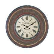 Woodland Import  Wood Wall Clock with Large Roman Numerals (WLMGC8026)