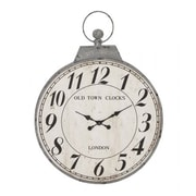 Woodland  Antique Metal Round Shaped Wall Clock (WLMGC9316)