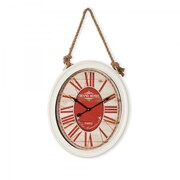 Yosemite Home Decor  Circular MDF Wall Clock With Rope - White (YSMT95265)