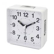 Impecca  Travel Alarm Clock Sweep Movement White (ZRSS2656)