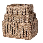 Ibolili Water Hyacinth 3 Piece Basket Set