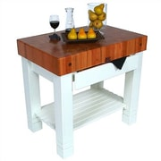 John Boos American Heritage Prep Table w/ Butcher Block Top by