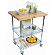 John Boos Metropolitan Wire Kitchen Cart with Wood Top
