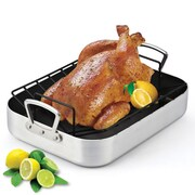 Cook N Home 16'' Nonstick Turkey Roaster with Rack
