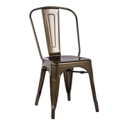 A&J Homes Studio Minimalist Side Chair (Set of 2); Bronze