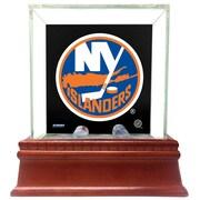 Steiner Sports Glass Single Puck Case; New York Islanders